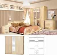 Спальня Флоренция комплект 5Д    Світ Меблів