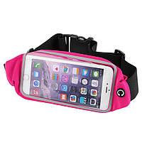 Беговая сумка на пояс для смартфонов с touch-экраном RunBelt Pink, фото 1