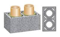 Керамическая двухходовая дымоходная система Schiedel Rondo Plus 14+14 без вентиляции
