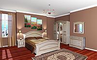 Николь; набор спальни 4Д /патина (Світ меблів)