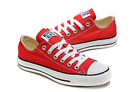 Кеды Converse All Star красные низкие Размер:36-44