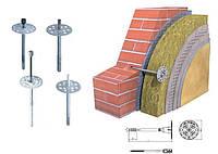 Дюбель для крепления теплоизоляции с металлическим гвоздем с термоголовкой 10мм / 180мм AMEX (Амекс)
