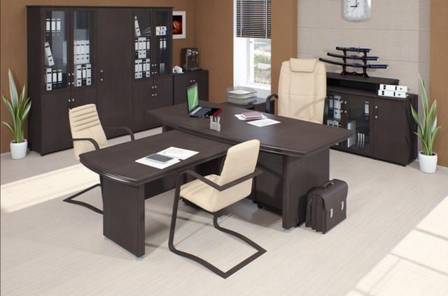 Корпусная офисная мебель Магистр в интерьере.