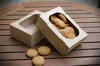 Мини-лоток кондитерский для печенья, зефира и пироженых, 160х110х55 мм, бурый