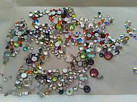 Стразы для ногтей микс размеров и цветов ss4-ss34