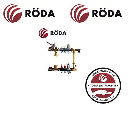 Коллектор для тёплого пола Roda 8 выходов (нержавейка) Смесительная группа,расходомеры,термоклапана,байпас., фото 2
