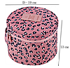 Круглий дорожній органайзер для нижньої білизни Monopoly Travel (Pink Leo) репліка, фото 2