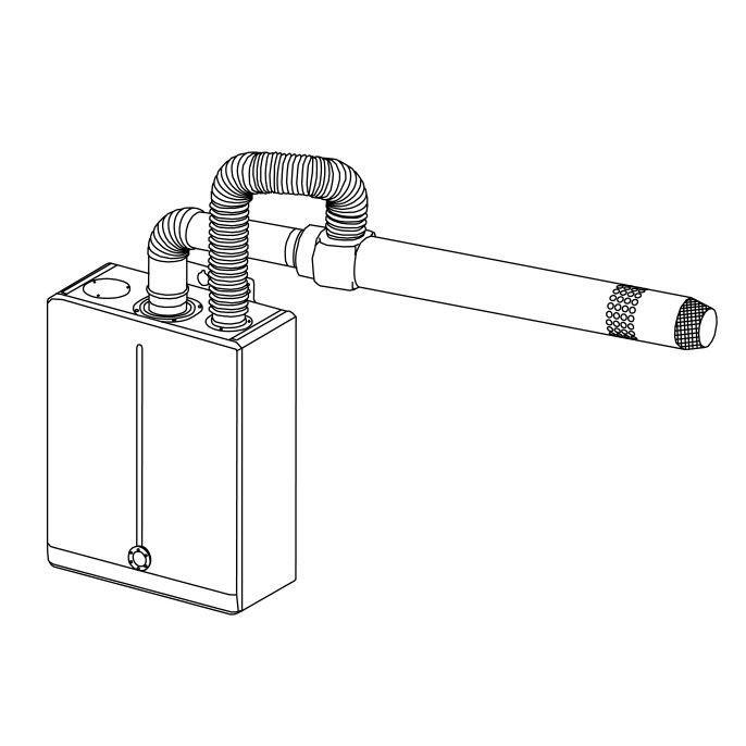 DAEWOO GASBOILER Дымоход стандартного типа DGB - 80L(110/80)