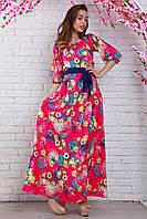 Необычное длинное платье с модной горловиной