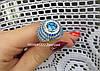 Эксклюзивное  серебряное кольцо с россыпью камней