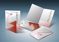 Печать папок с логотипом, изготовление картонных папок