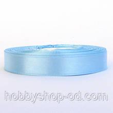 Лента атласная 1,2 см  небесно-голубая