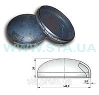 Заглушка эллиптическая стальная  48x3мм ГОСТ 17379-01