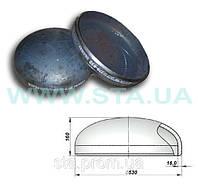 Заглушка эллиптическая стальная  530x16мм ГОСТ 17379-01