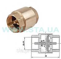 Клапан STA обратный  Ду50мм с латунным штоком
