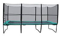 Квадратный батут МВМ 457х305 см. с защитной сеткой + лестница