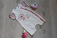 Песочник для девочки, детский турецкий трикотаж на возраст 3мес