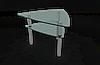 Стол треугольный стеклянный журнальный МТ-11