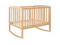 Кровать-качалка для детей деревянная 0021