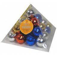 Новогодние украшения на елку Шарики 5 см 25 штук в пирамидке 8198