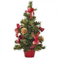 Декоративная Новогодняя елочка в вазоне 30 см 8287