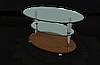 Стол для гостиной стеклянный овальный МТ-13