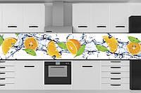 Стеклянный фартук для кухни - скинали Фрукты в воде
