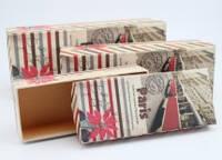 Набор подарочных коробок 2шт Paris W8925