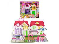 Домик 3141 для куклы, 28 дет, 39-33-14см, мебель, посуда, в кор-ке, 35-34-14см