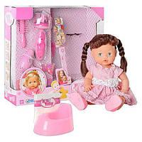 Кукла 30701 A 1 звук(рус),набор парикмахера,аксессуары,горшок,бутылочка