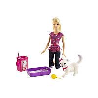 """Набір Barbie з кошеням серії """"Догляд за улюбленцями"""""""