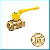 Кран латунный шаровый 11б27п Ду15 в/в (для газа)