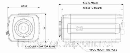 Видеокамера HD-SDI KT&C KPC-HDX210M, фото 2