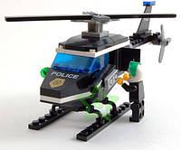 Конструктор Полицейский вертолет 76 деталей BRICK 457797/123, фото 1