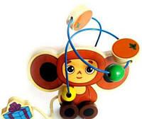 Деревянная игрушка-каталка Чебурашка Metr+ GT5936