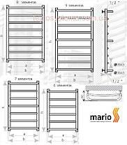 Полотенцесушитель MARIO Люкс HP 800x430/400 (Heat Point) водяной , фото 2