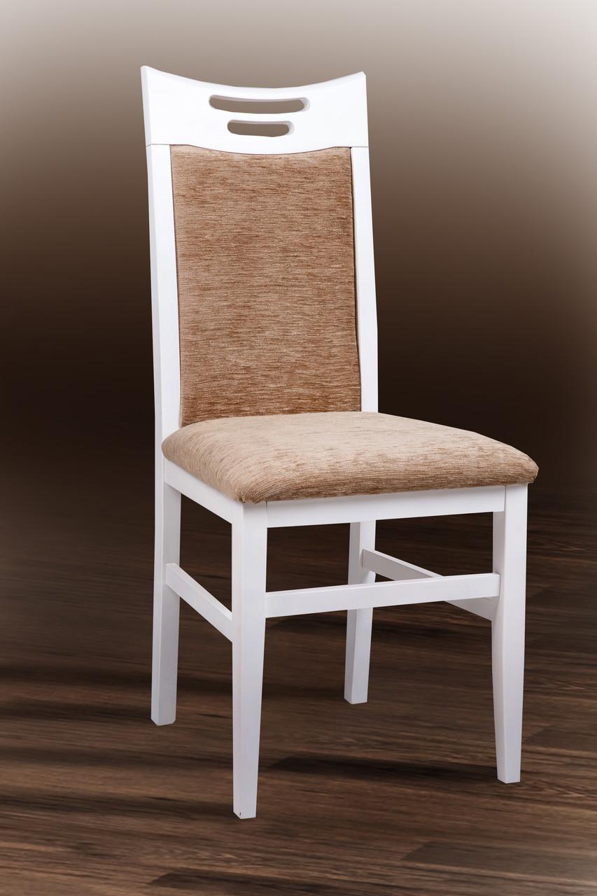 Стул кухонный деревянный Юля Микс мебель, цвет белый