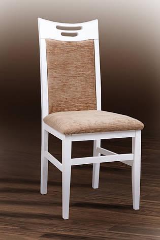 Стул кухонный деревянный Юля Микс мебель, цвет белый, фото 2