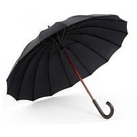 Зонт-трость 16 спиц Doppler London 74166 механика Чёрный
