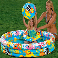 Детский надувной бассейн с игровым набором INTEX (59469)