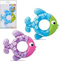 Детский надувной круг в форме рыбки Intex (59222)