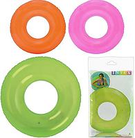 Дитячий надувний круг Intex 59260, однотонний (3 кольори)