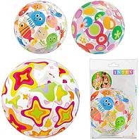 Дитячий надувний М'яч Intex 59040 різнобарвний (3 кольори)
