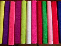 Бумага гофрированая (крепированая) 180 г/м2, (ДхШ) 125см.х50см.