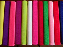 Бумага гофрированая (крепированая) 180 г/м2, (ДхШ) 125см.х50см. (1\2 заводского стандартного рулона)