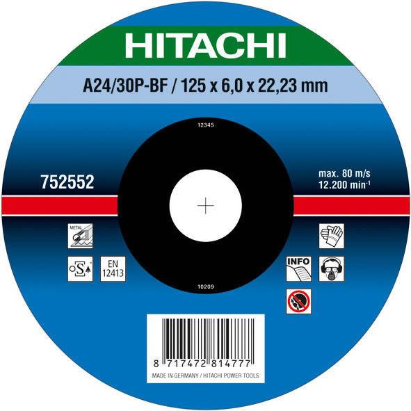 Диск для зачистки металла 150х6,0х22,2  Hitachi / HiKOKI 752553