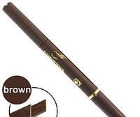 Карандаш Ffleur для бровей 2-сторон. механический ES-412 (коричневый)