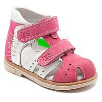 Кожаные, розовые  босоножки FS Сollection для девочки,  размер 20-30, фото 1