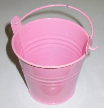 Ведерко декоративное 7,5/6 см, розовое