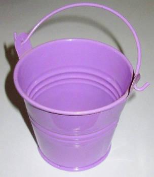 Ведерко декоративное 7,5/6 см, фиолетовое